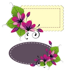 flora design elements vector image