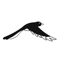 Flying magpie icon simple style vector