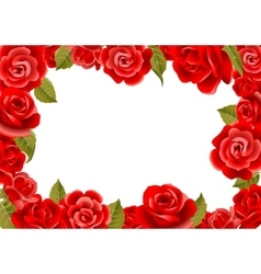 Frame from red roses vector