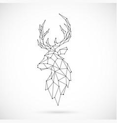 geometric deer silhouette image deer vector image