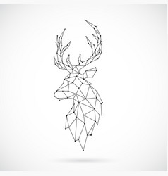 Geometric deer silhouette image of deer vector