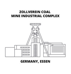 Germany essen zollverein coal mine industrial vector