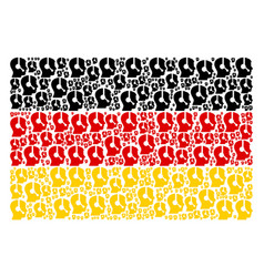 Germany flag collage of operator icons vector