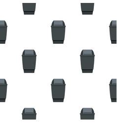 Grey flip lid bin pattern seamless vector