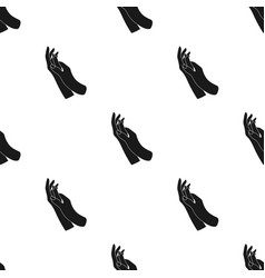 Hands moisturizing icon in black style isolated on vector