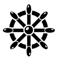 handwheel icon simple style vector image