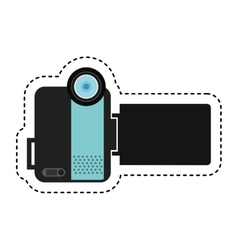 handy cam device isolated icon vector image