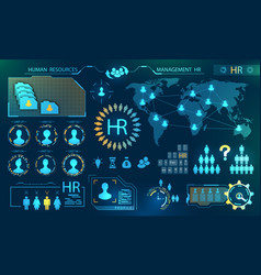 Hud elements search human resources profile vector