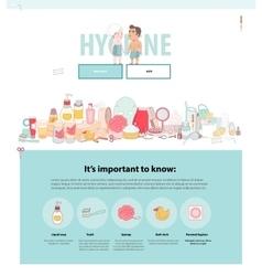 Hygiene web template vector image