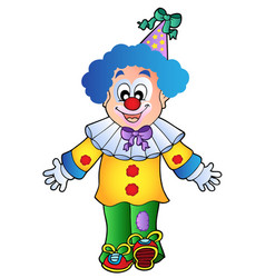 Image of cartoon clown 1 vector