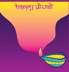 Indian big festival diwali greeting design vector