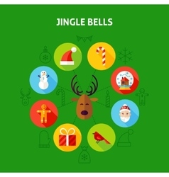 Jingle Bells Infographic Concept vector image