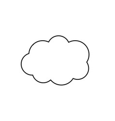 line cute cloud weather design icon vector image