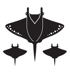 Manta ray or stingray icon or logo vector