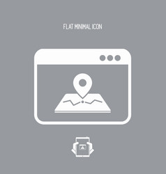 map application flat icon vector image