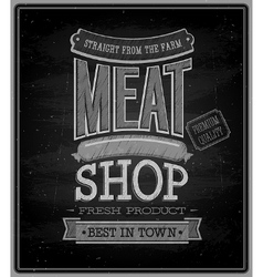 Meat shop Chalkboard vector image