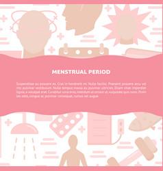 Menstruation symptoms and treatment concept banner vector