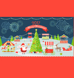 merry christmas market on vector image