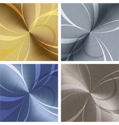 Metallic texture set vector image