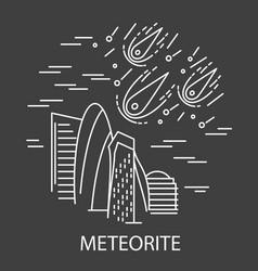 Meteorite natural disaster vector
