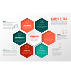 minimalist infographic report template with vector image