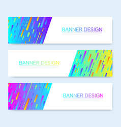 Modern abstract web banner template vector