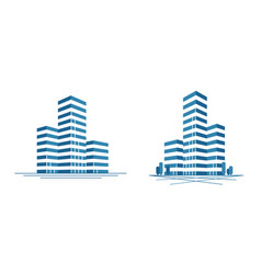 modern city skyscraper logo construction vector image