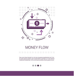 Money flow business investment banner with copy vector
