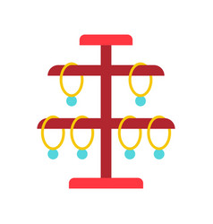 Necklace stand jewelry related icon flat design vector