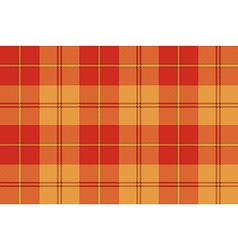 Orange plaid tartan fabric texture seamless vector