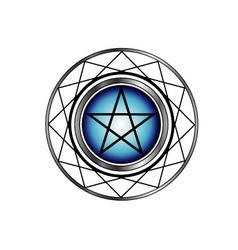 Pentacle symbol vector image