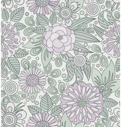 Picturesque seamless pattern in soft colors vector