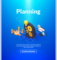 planning poster of isometric color design vector image