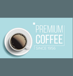 premium coffee background blue backdrop vector image