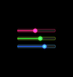 progress loading bar with neon target isolated vector image