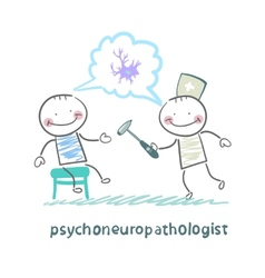 Psychoneuropathologist check the patients nerves vector