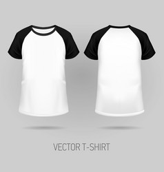 raglan t-shirt with black short sleeve vector image