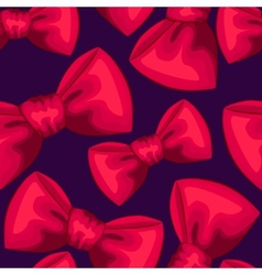 Red bows seamless pattern vector image