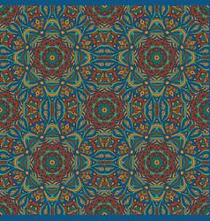 Seamless floral ethnic motives mandala zentangl vector