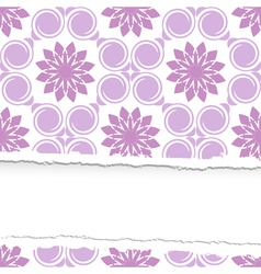 Seamless floral pattern ripped vector