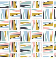 Seamless pattern in view squares and stripes vector