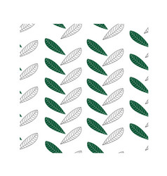 seamless pattern leaf green black eps 10 vector image