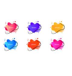 Set liquid color abstract geometric shapes vector