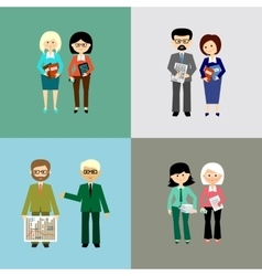 Set of business people vector