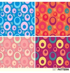 Set pattern rings bright vector image