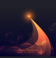 shiny christmas tree design on purple background vector image