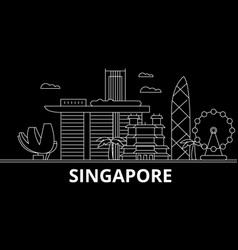 singapore silhouette skyline china - singapore vector image