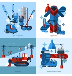 Skiing 2x2 Design Concept vector image