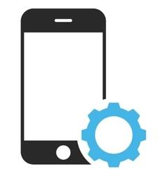 Smartphone Setup Gear Eps Icon vector image