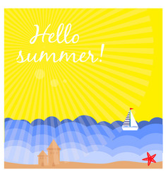 summer background with tropical beach vector image